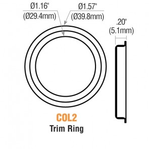 "1/8"" Mortise Cylinder Trim Ring (Satin Chrome) 10PK -by GMS"