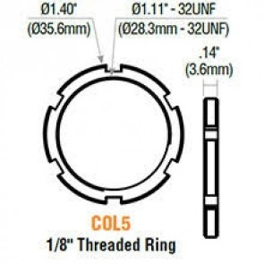 Mortise Cylinder Threaded Ring 10PK -by GMS