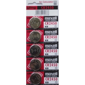 5-Pack of CR2450 3-Volt Lithium Batteries (Exp 02/20) -by Maxell