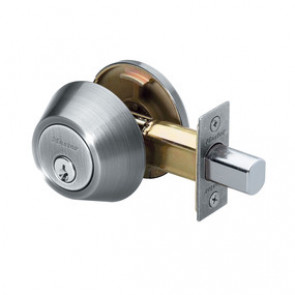Single Cylinder Deadbolt (SC1) Satin Nickel -by Master Lock