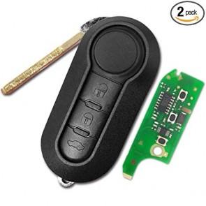 Fiat 3-Button Flip-Style Remote Head Key w/ Trunk (FCC ID: LTQFI2AM433TX) 315MHz -by Kee-Co