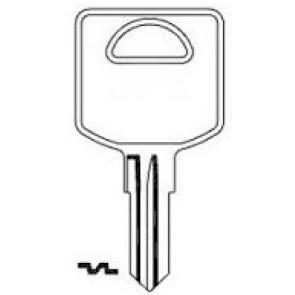 FIC1 (FCS-1D) nickel plate key blank