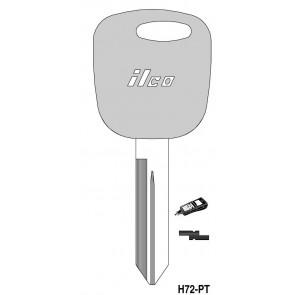 FORD RW Transponder Key (H72PT, 598333) ILCO