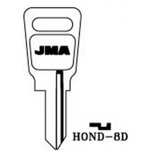 Honda Motorcycle Keyblank (HD66