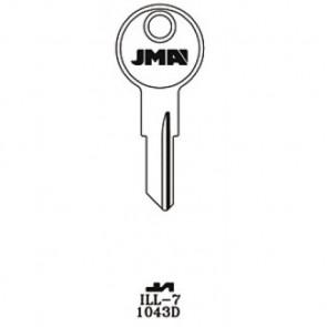 Illinois (ILL7, 1043D) Key Blank