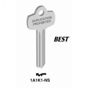 Best 'K' Key Blank (NS) (Jet)
