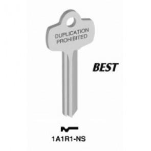 1A1R1 Nickel Silver Key Blank