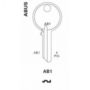 Abus (AB1, AB62CR) Brass Key Blank
