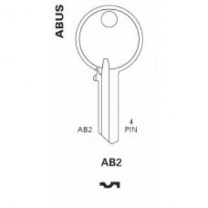 Abus (AB2, AB62C, CS6) Brass Key Blank