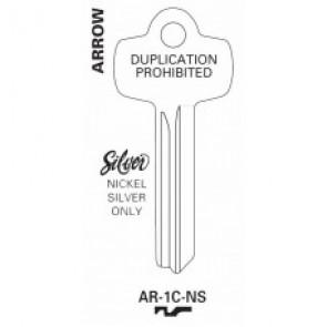 Arrow 1C Nickel Silver Key Blank - AR-1C-NS (JET)