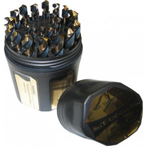 1/16 - 1/2 HSS Black & Gold Drill Bit Set, 29 Pieces