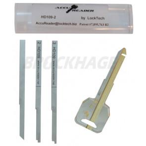 AccuReader for the Honda HD109-2 keyway