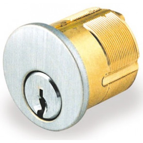 """GMS 1-1/8"""" Mortise Kwikset Keyway Cylinder (M118-KW-26D-ST-A2) Chrome"""