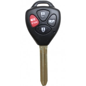 Camry (TOY-06-4B-314.4-CAMRY-4D-67) 4 Button Remote Head Key (Lock, Unlock, Trunk, Panic) 314.4MHz, 4D-67 Chip