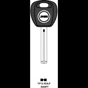 Kia (TP12KI-9-P) Transponder Key (KK9PT)
