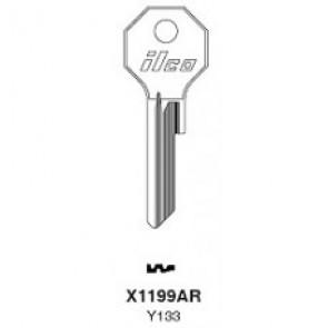 Chrysler (Y133, X1199AR) NP Key Blank - by Ilco