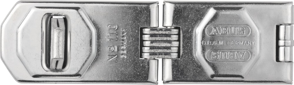 NEW ABUS 110 230 C 9 Inch Hardened Steel Concealed Hinge Pin Hasp Silver