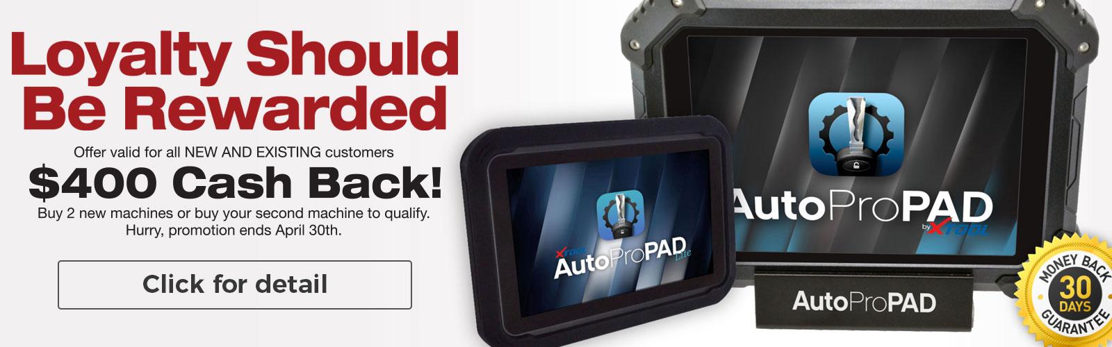 AutoProPad Cashback
