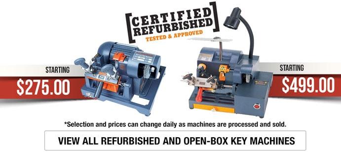 Refurbished Key Machines